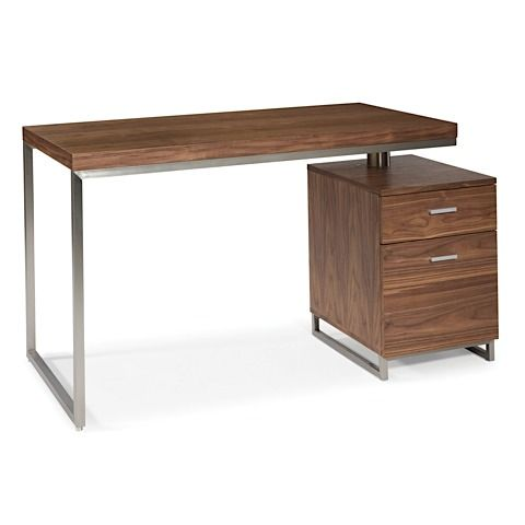 Derby Small Desk With File Drawers Modern Digs Cheap Office Furniture Walnut Writing Desk Moe S Home Collection