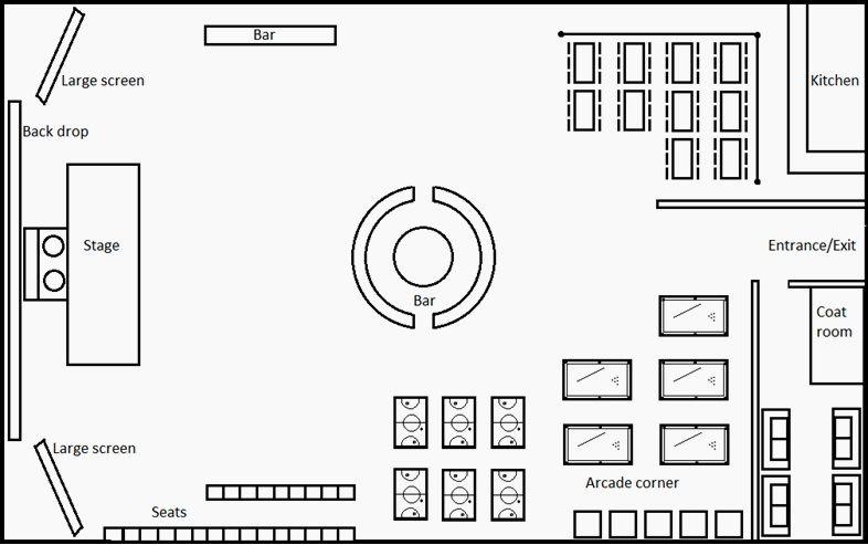 Event floor plan Event Management Event planning business, Event