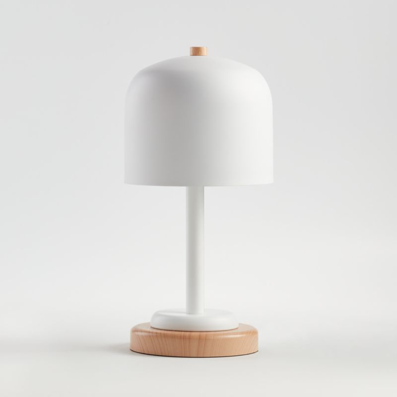 White Modern Dome Touch Table Lamp Reviews Crate And Barrel In 2020 Touch Table Lamps Touch Table Kids Table Lamp