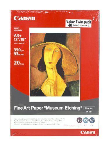 Fine Art Paper Museum Etching 13 x 19 Inches (40 Sheets) Canon http://www.amazon.com/dp/B00GV4V7QU/ref=cm_sw_r_pi_dp_mmfUtb0BS18SNEQE