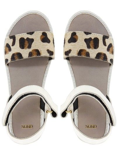 Firefly Leather Flat Sandals