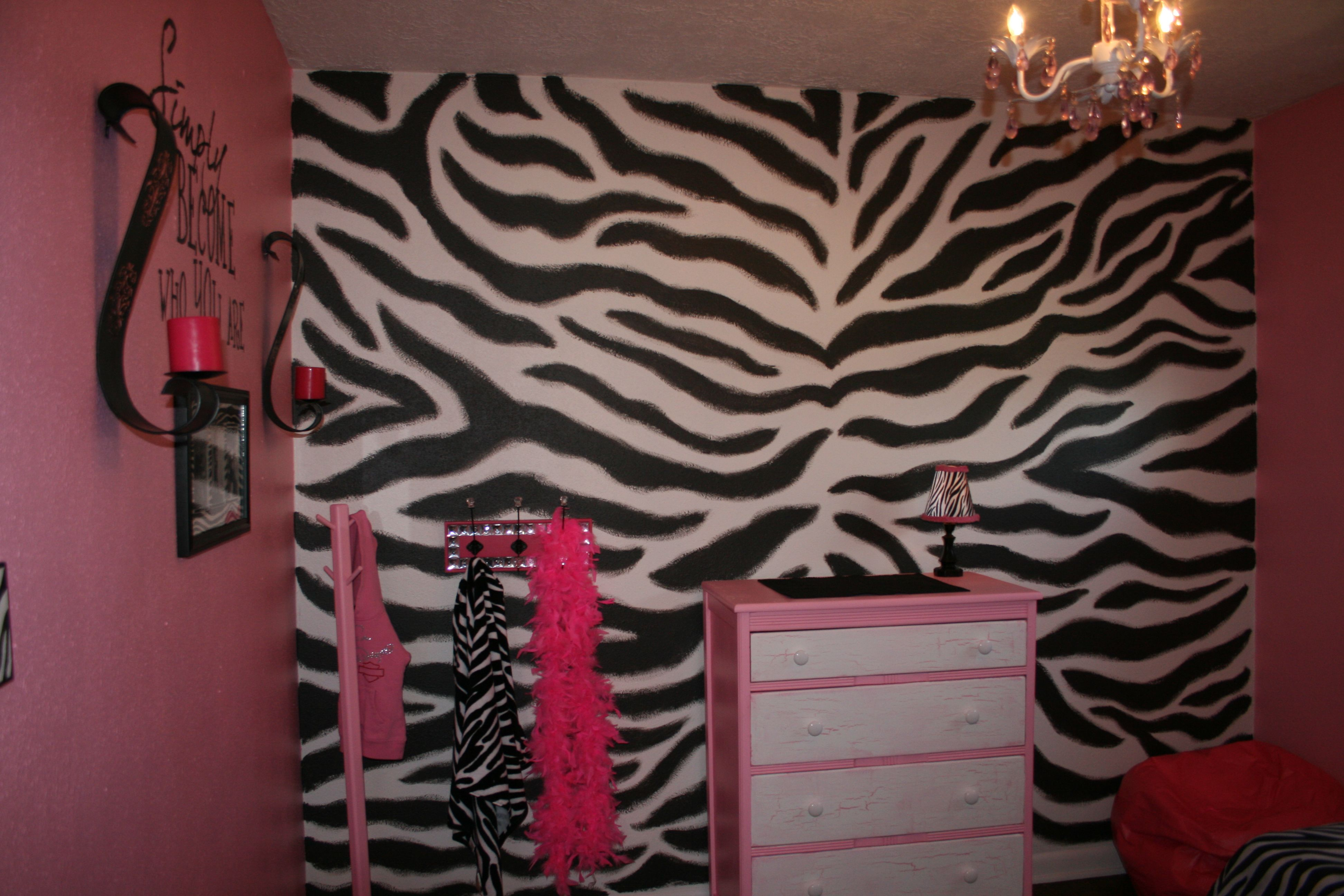Laylas room--- We hand painted the zebra stripes!!!