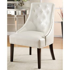 Home White Lounge Chair White Accent Chair Leather Accent Chair
