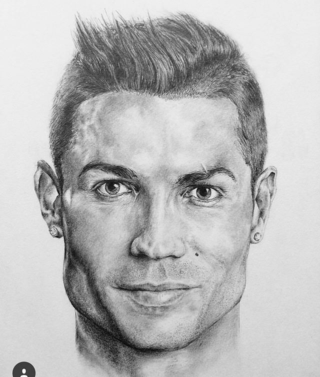 Christiano ronaldo drawing by peterburtart illustration - Dessin cristiano ronaldo ...