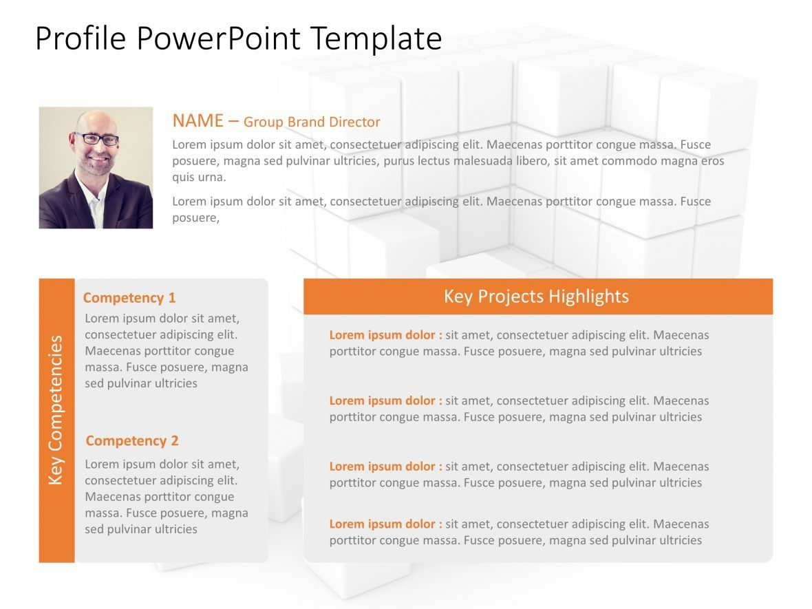 employee profile Team PowerPoint Template
