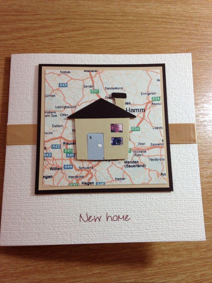 Susse Karte Info Zum Einzug New Home Cards Housewarming Card