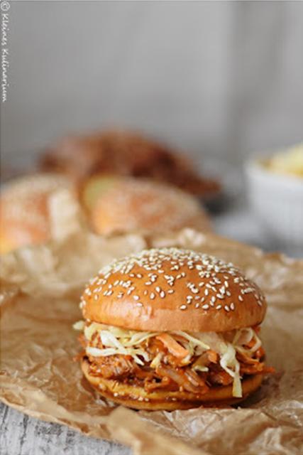 pulled pork burger finale das fleisch rezept food pinterest burger fleisch und essen. Black Bedroom Furniture Sets. Home Design Ideas