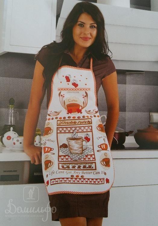 Фартук кухонный из хлопка и полиэстера KARNA DAMLA V1 от Karna (Турция) - купить по низкой цене в интернет магазине Домильфо