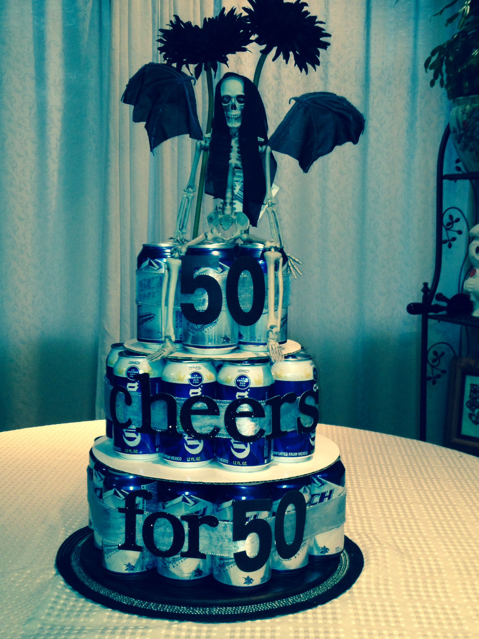 Beer cake for my husbands surprise 50th birthday