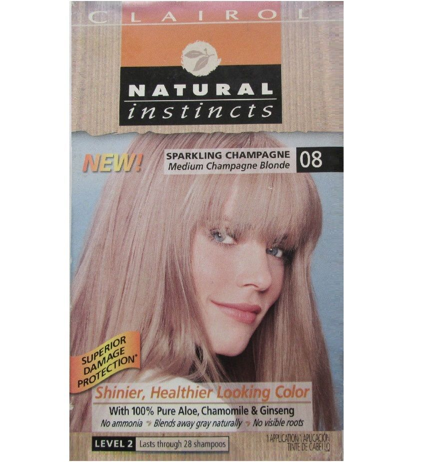 Clairol Natural Instincts Hair Color 08 Med Blonde No Ammonia Free