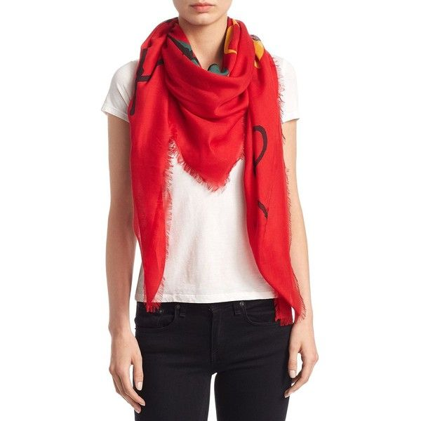 Gucci Tomorrow Is Now Yesterday Scarf (530 CAD) ❤ liked on Polyvore  featuring accessories