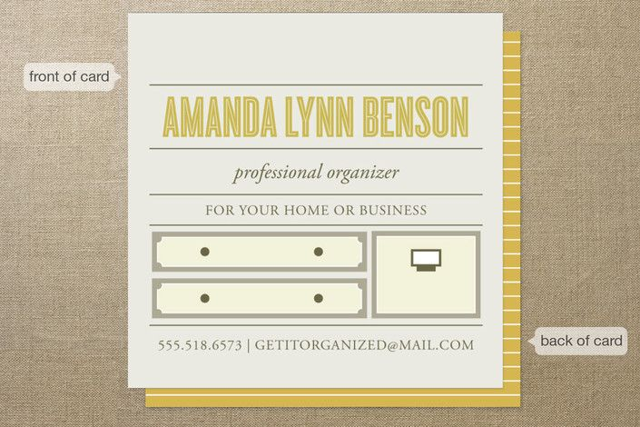 Top Shelf Professional Organizer Business Cards Minted