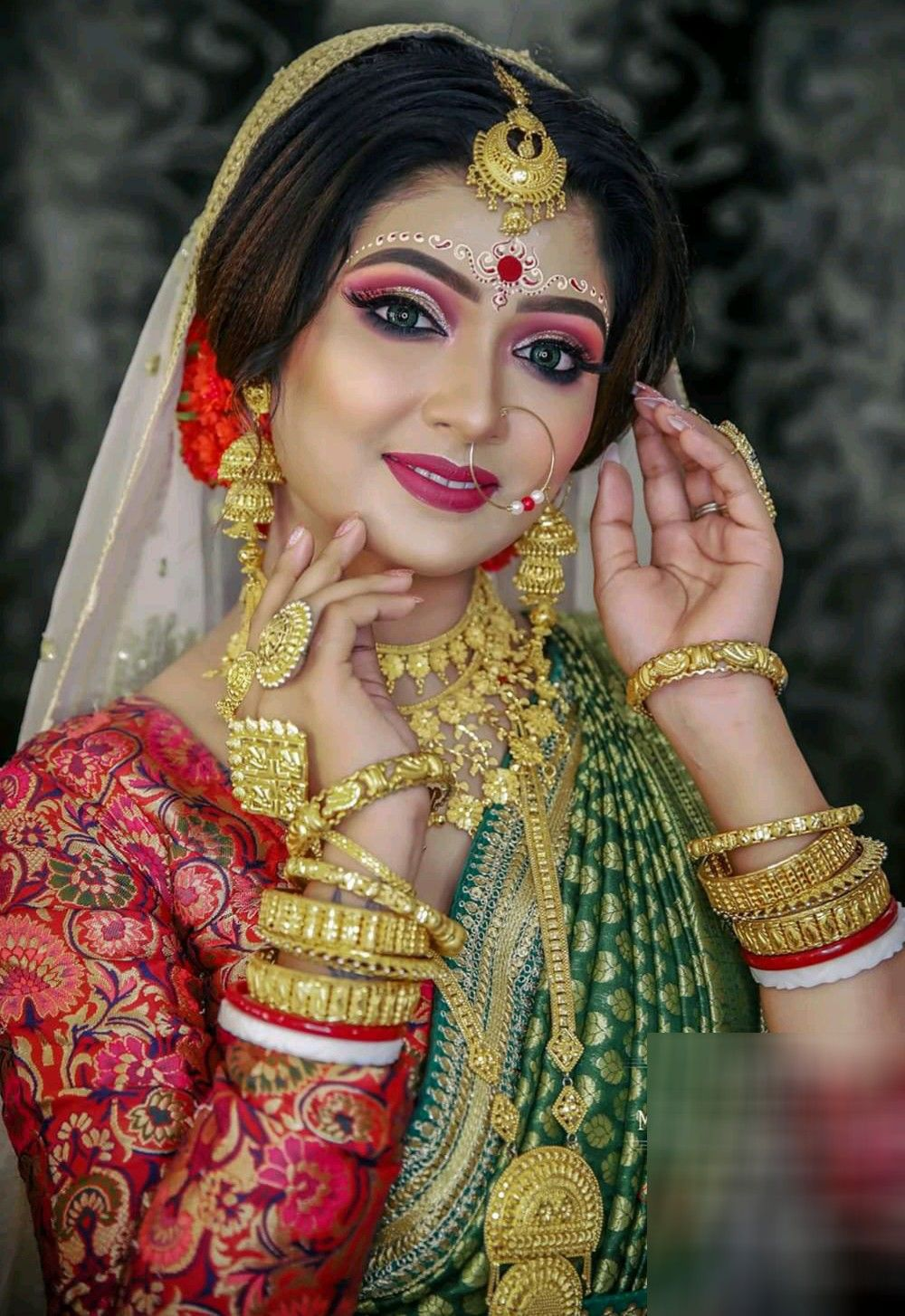 Pin by MADHUⓂ️ on bridal makeover Bridal makeup looks