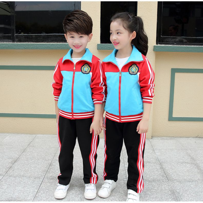 2017 Adult Children s Primary School Uniforms Teenage Autumn long sleeve  sports outwear clothing Kids tracksuit outfit 239bae5019e6