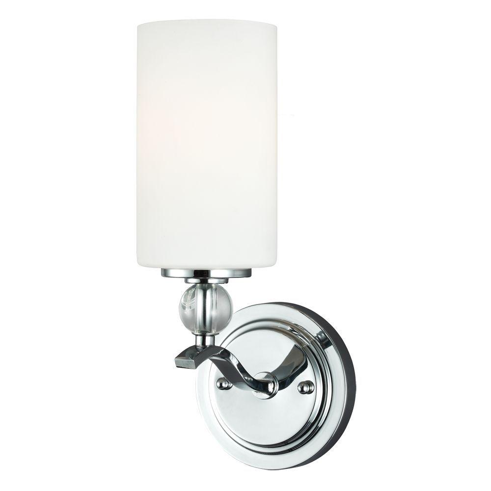 view the sea gull lighting 4113401 englehorn 1 light bathroom sconce at - Chrome Bathroom Sconces