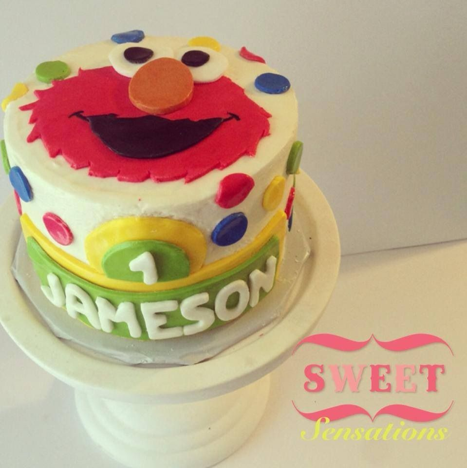 Elmo smash cake FacebookcomNapasSweetSensations My Sweet