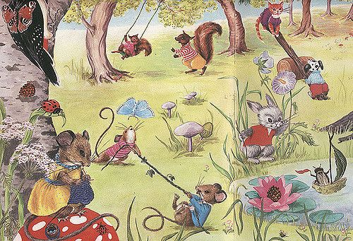 https://flic.kr/p/73X4VC | Toddler's Own Annual 1969 - Animal Playtime | My copy is tatty but the images are so cute!