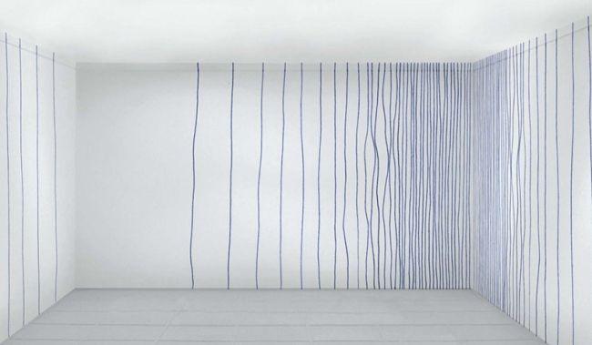 Stiftzeichnung an der Wand \u2013 Tapeten Muster Design von Rollout