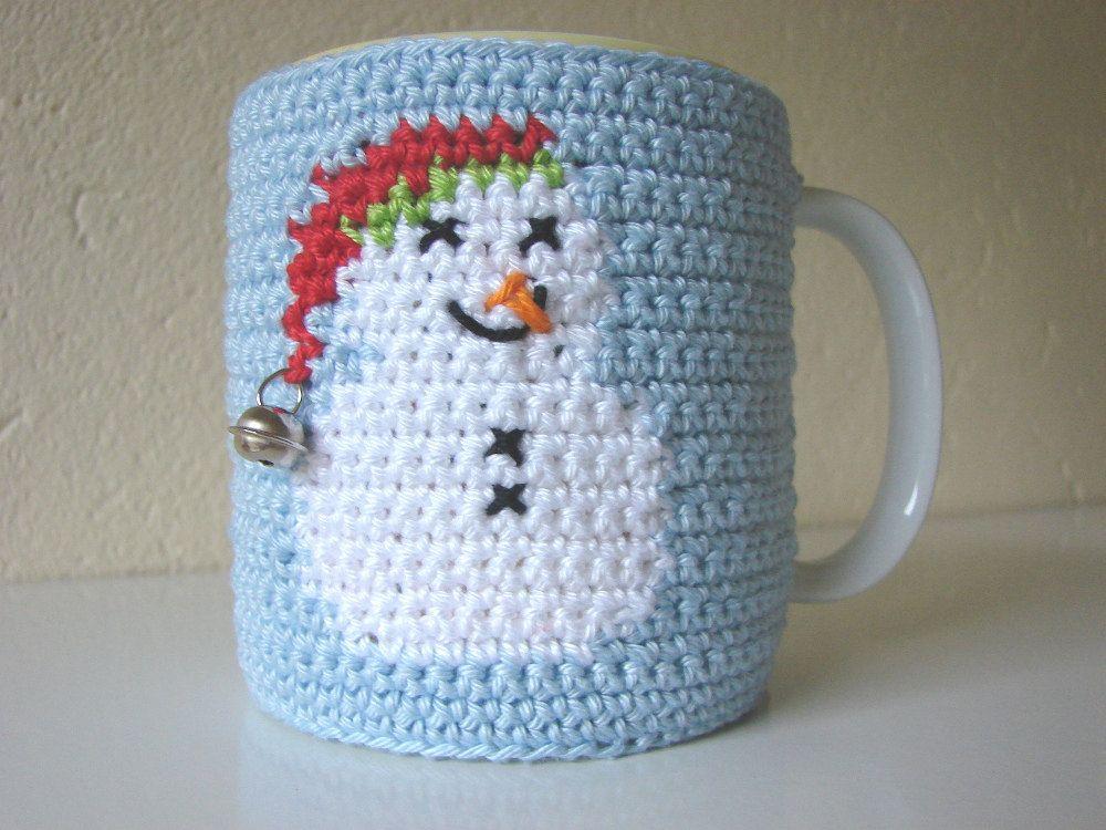 Mug cozy snowman | cup cozy Christmas | cup cozy | mug cozy | coffee ...