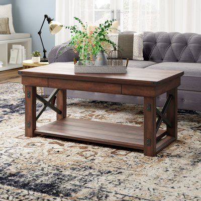 Laurel Foundry Modern Farmhouse Gladstone Floor Shelf Coffee Table | Wayfair