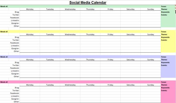 We first How brands and consumers use social media to build a - social media calendar template