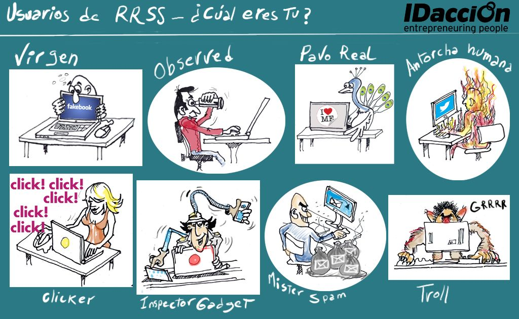 Los 8 usuarios de redes sociales: ¿cúal eres tú?