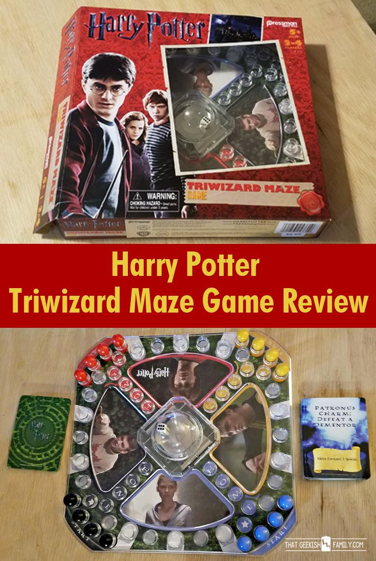 Harry Potter & Triwizard Maze Game - come see the unboxing and quick game review of our newest addition to the Potter collection at our geekish house!