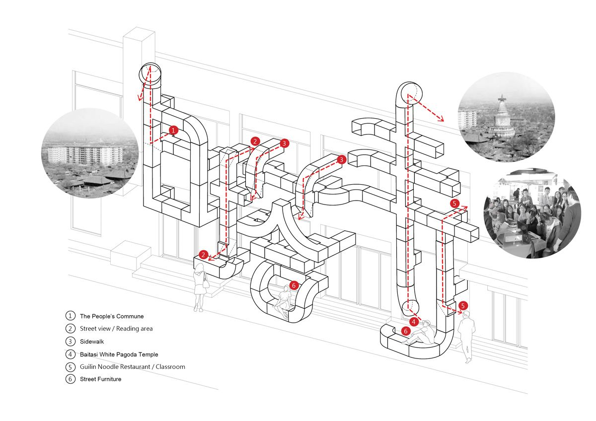 HVAC ducts characterize tubular baitasi visitor center by