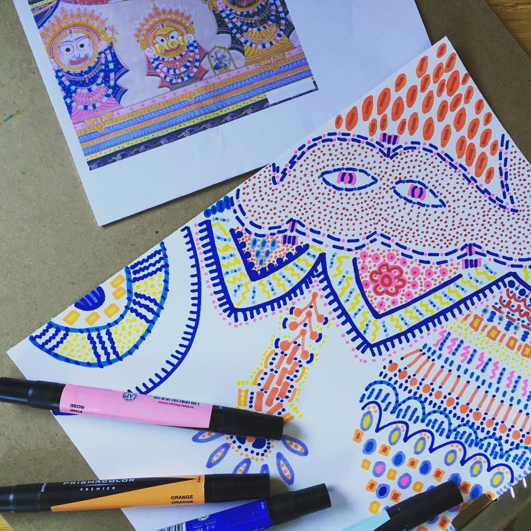 """""""Doodle is coming along. This is definitely an abstract Jagannath."""""""