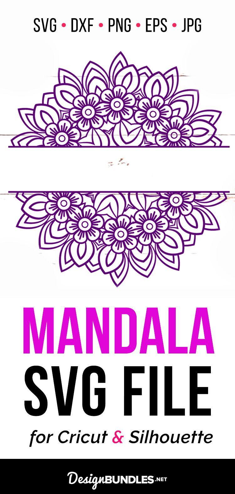 Mandala SVG Cut File for Silhouette Cricut