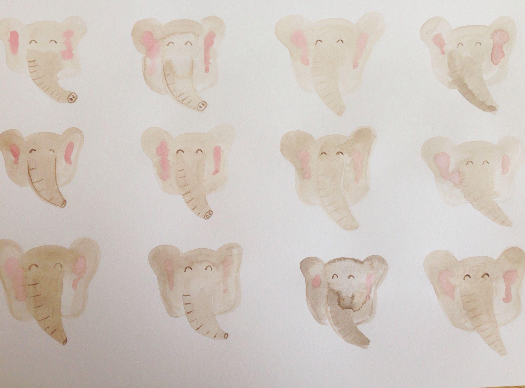 Elephants #watercolour #painting