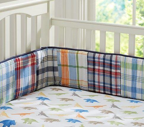 Dino Madras Crib Sheeting Crib Sheets Pottery Barn Crib Bumper