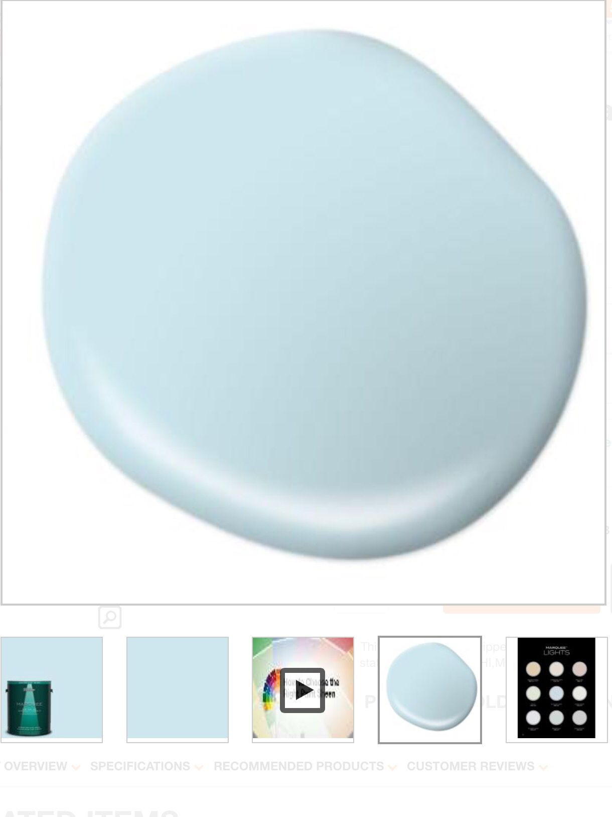 Behr Marquee Ethereal Mood paint color It s a beautiful blue
