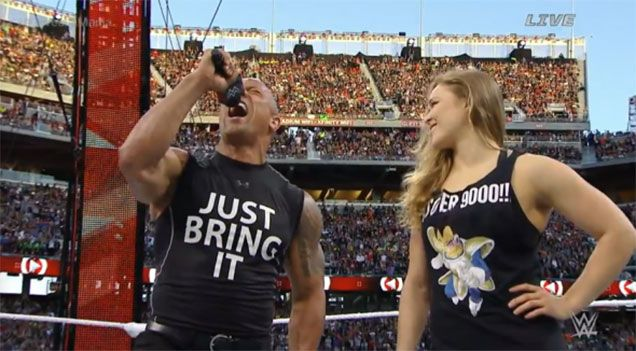 Ronda Rousey Just Killed Wrestlemania Wearing A Dragon Ball Z Shirt Ronda Rousey Dragon Ball Z Shirt Wrestlemania