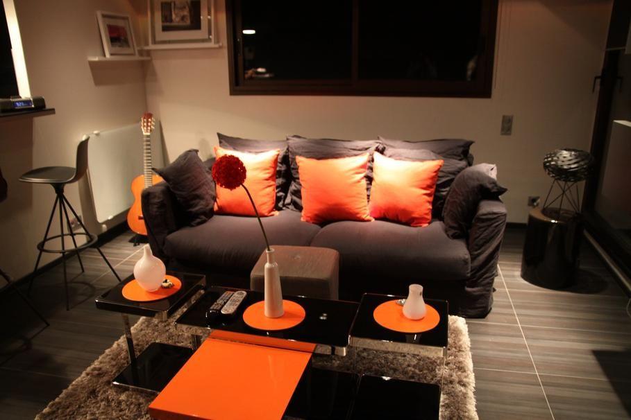 Beige taupe et orange chambre recherche google chambre douard pinterest - Chambre beige taupe ...