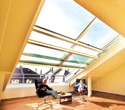 Noch Dachfenster oder schon Cabriofeeling im Dachgeschoß Attic - dachfenster balkon cabrio interieur