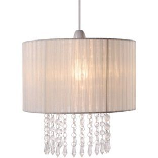 Buy collection grazia voile droplets shade cream at argos buy collection grazia voile droplets shade cream at argos visit argos to shop online for lamp shades aloadofball Choice Image