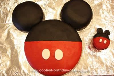 Homemade Mickey Mouse Birthday Cake Design Mickey Mouse Birthday