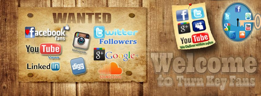 Providing likes, fans, followers, views, plays, downloads, subscriber and followers on all major social networking sites. www.turnkeyfans.com