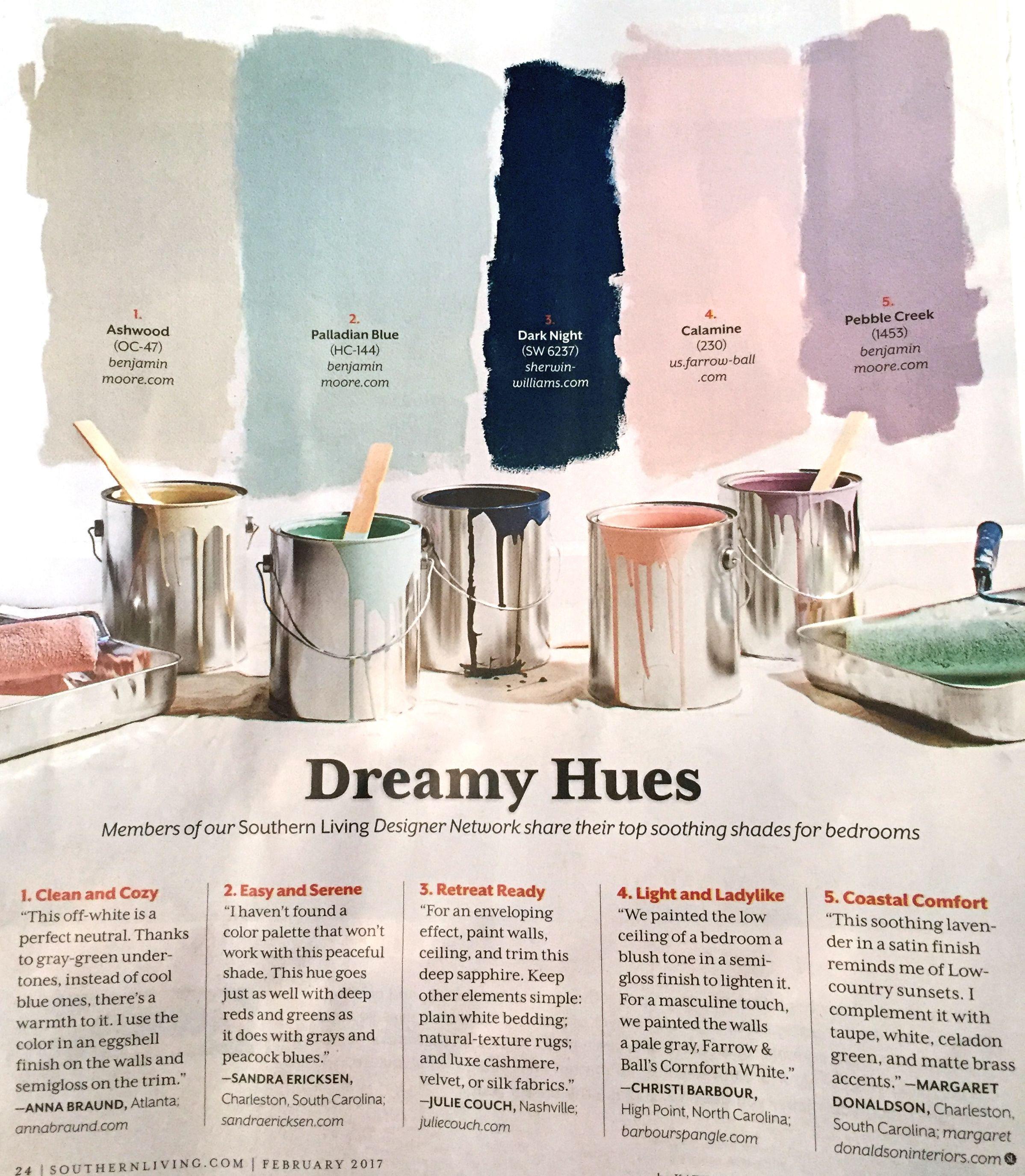 Paint Colors With Cult Followings 10 Picks From The: Dreamy Hues Palette