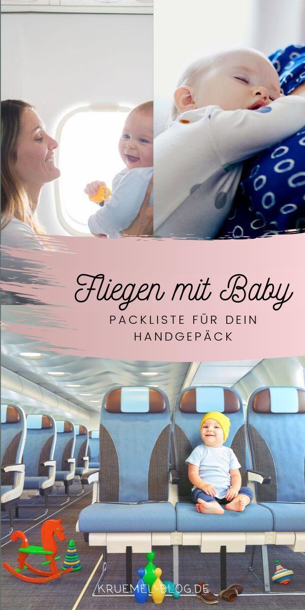 Fliegen mit Baby - Das muss unbedingt ins Handgepäck!