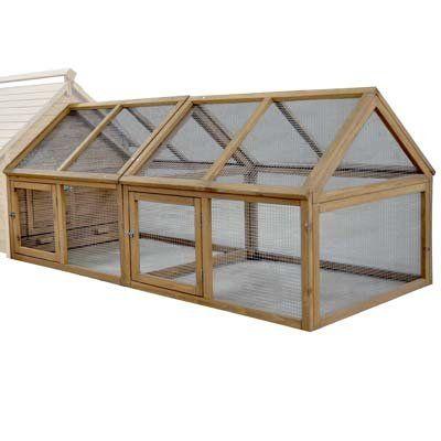 feelgooduk double enclos d 39 ext rieur pour volailles mes. Black Bedroom Furniture Sets. Home Design Ideas