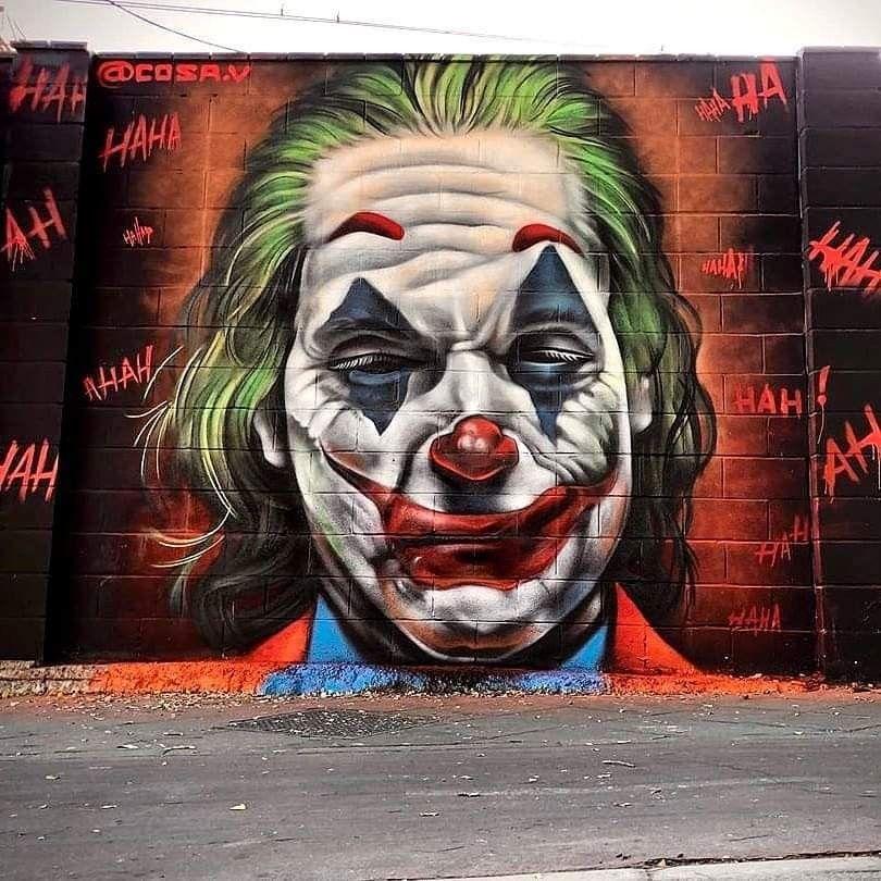 Pin De Warren Ryan En Street Art Graffiti De Arte Callejero Graffiti Artistas Callejeros Graffiti joker joker haha wallpaper