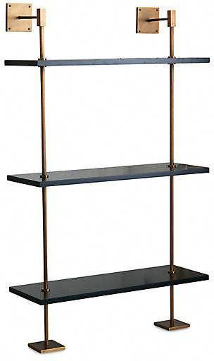 Marais Wall Shelving Black Brass Glass Shelves Kitchen Brass Shelving Wall Shelves