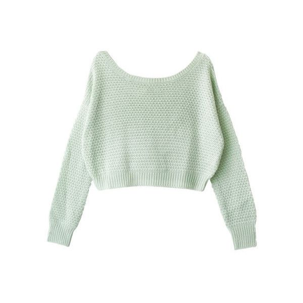 [mbc501] ❤ liked on Polyvore featuring tops, sweaters, long sleeves, green top and long sleeve tops