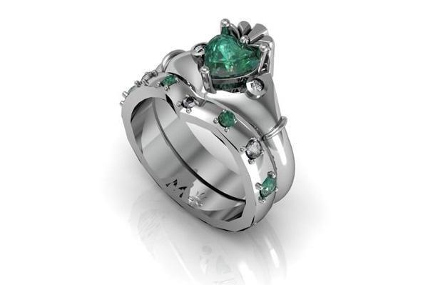 claddagh wedding his hers ring sets Irish Wedding Ring Sets