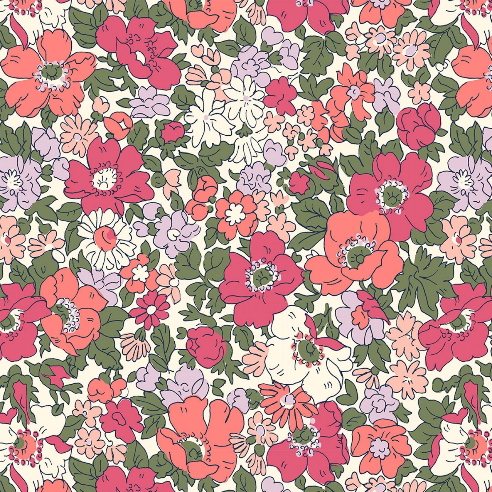 Liberty Of London The Cottage Garden Cosmos Meadow Annual Liberty Of London Fabric Liberty Of London Cotton Quilting Fabric