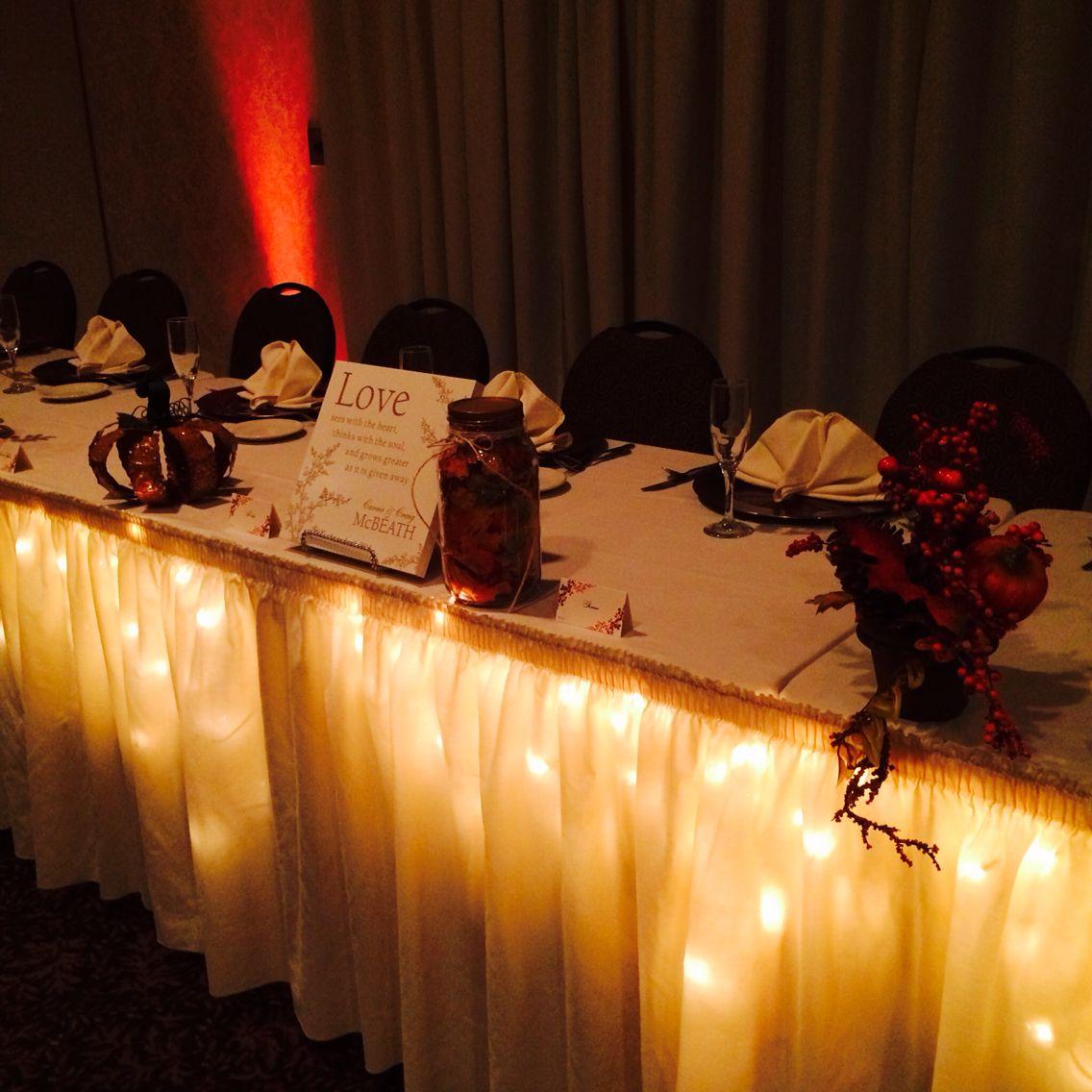 Head table #fallreceptions