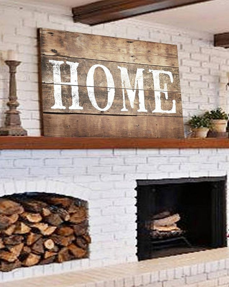Large Rustic Home Sign