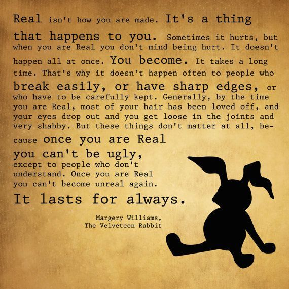 velveteen rabbit quotes | Velveteen Rabbit Nursery quote ...